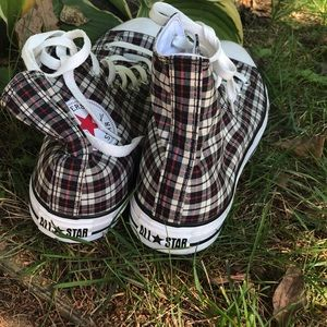 Converse Shoes - Plaid Converse High Tops